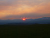 Smoke from the Whitewater -Baldy Fire in New Mexico made for a beautiful sunrise, but the view for the rest of the day was hazy because of the smoke.