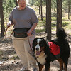 Donna and Boomer, Boomer's turn to carry the water pack.