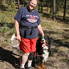 Cindy & Mr Hobbs, Note Cindy's knee brace - (dog protection :-) )