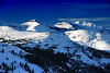 Loveland Pass Colorado.<br /> The Winter Snowscapes of the Colorado Rockies.