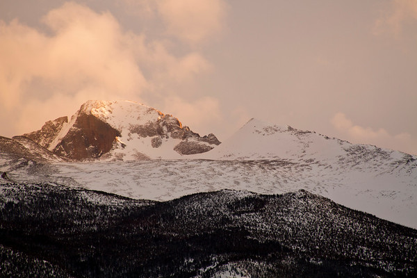 Final Light on Long's Peak