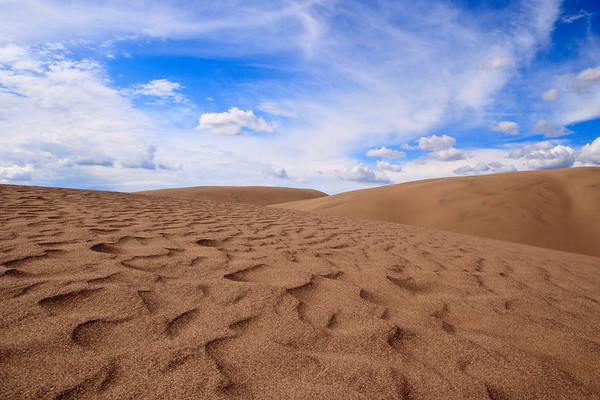 The Great Sand Dunes ... texture everywhere ... but a bit reminiscent of scenes on Tatooine.