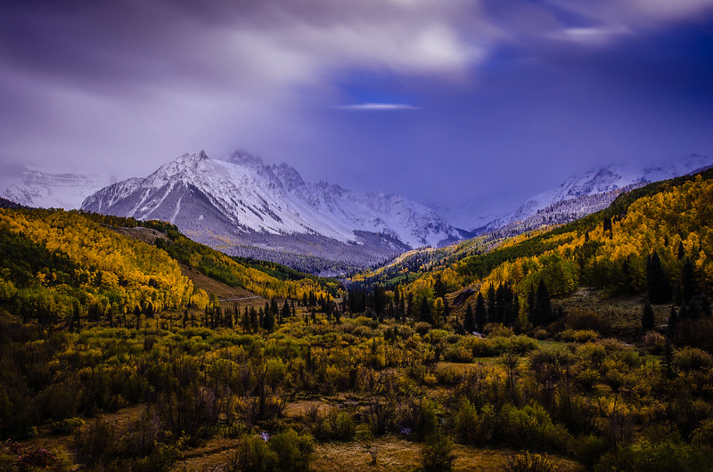 Mount Sneffels in Autumn Twilight
