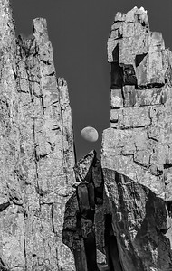 Day moon in the Narrows