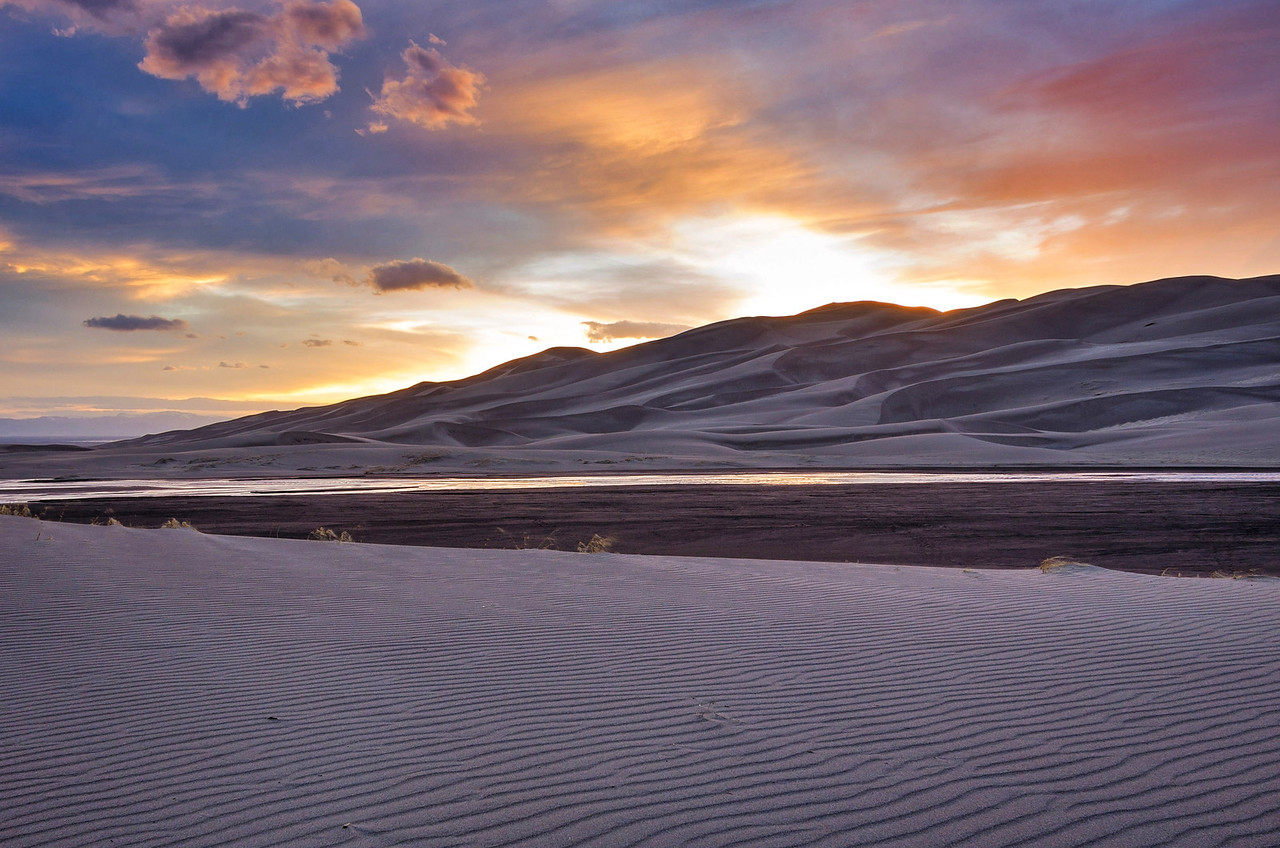 Sunset Shadows at Great Sand Dunes