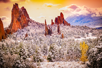 Garden of the Gods with Fresh Snow