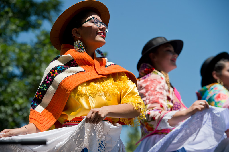"Dominiqua Quesada, with Baila Conmigo Dance Company, performs during the Colorado Latino Festival in Longmont on Sunday. <br /> More photos:  <a href=""http://www.dailycamera.com"">http://www.dailycamera.com</a><br /> (Autumn Parry/Staff Photographer)<br /> June 26, 2016"
