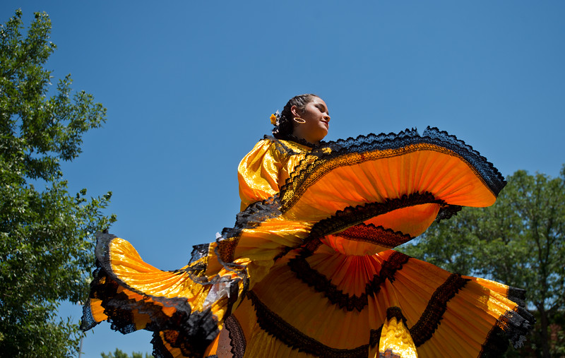 "Paulina Sanchez-Trujillo, with Baila Conmigo Dance Company, dances the Marinera, a Peruvian dance, during the Colorado Latino Festival in Longmont on Sunday. <br /> More photos:  <a href=""http://www.dailycamera.com"">http://www.dailycamera.com</a><br /> (Autumn Parry/Staff Photographer)<br /> June 26, 2016"
