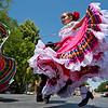"""Isabella Damian, 6, dances """"La Raspa"""" with other members of the Baila Conmigo Dance Company, during the Colorado Latino Festival in Longmont on Sunday. <br /> More photos:  <a href=""""http://www.dailycamera.com"""">http://www.dailycamera.com</a><br /> (Autumn Parry/Staff Photographer)<br /> June 26, 2016"""