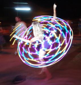More LED hula fun.