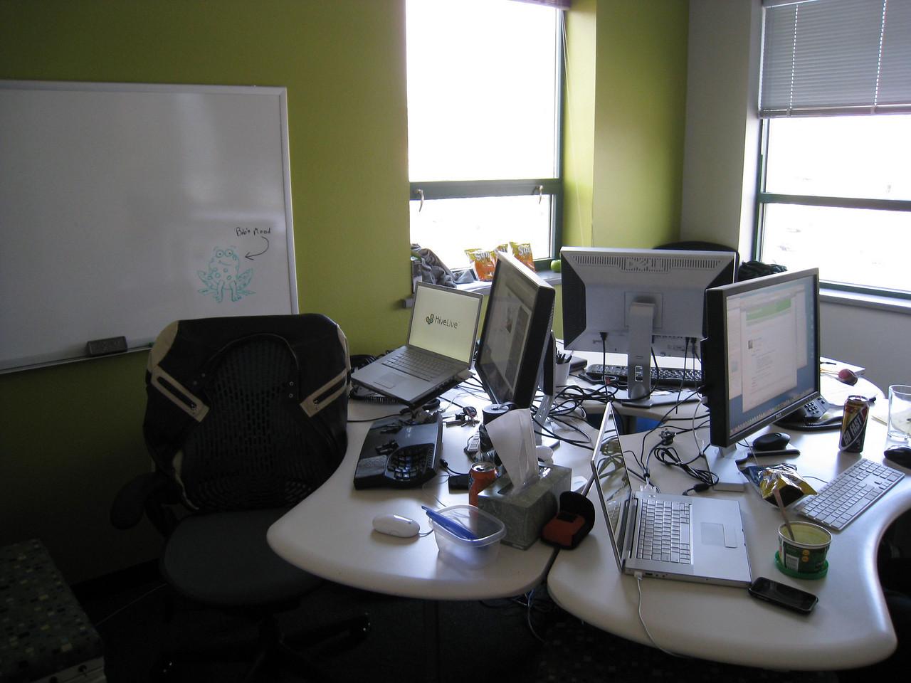 My desk on the left... the UI development room.