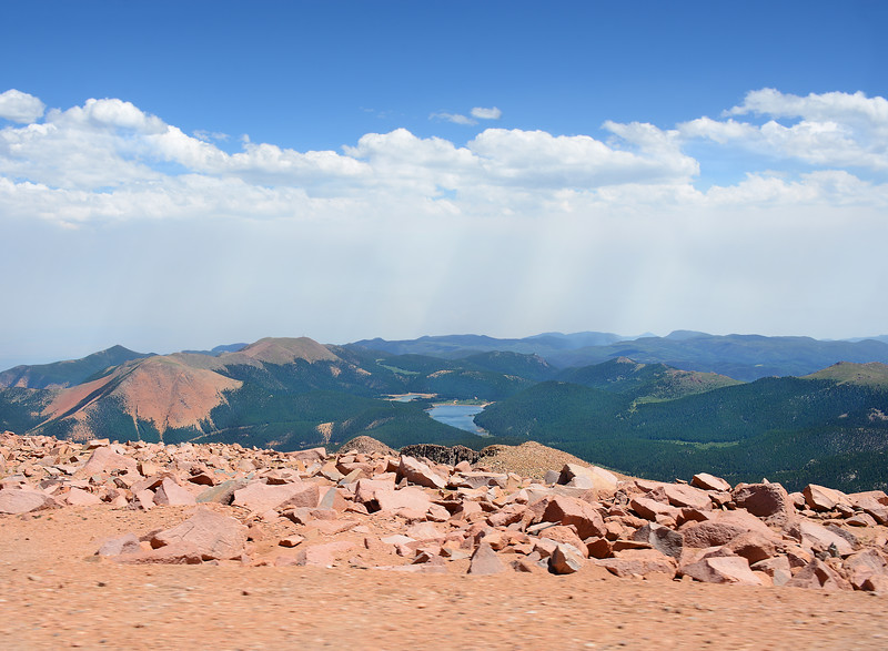 Beautiful mountain landscape, from the top of Pikes Peak.