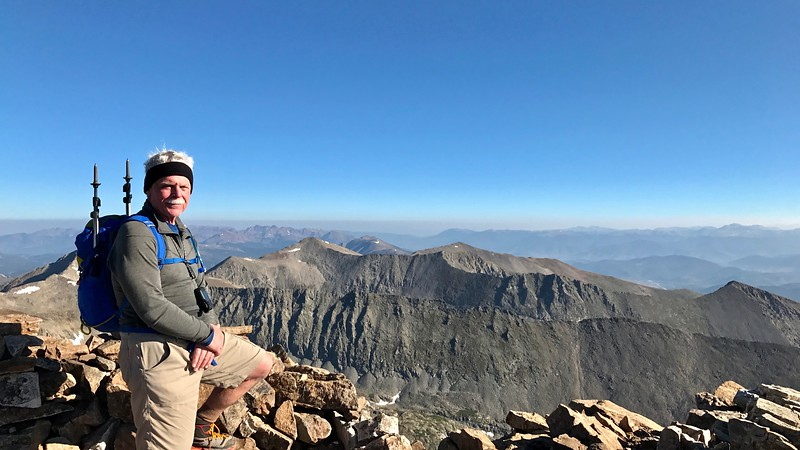 On the summit of Quandary Peak 14,265'