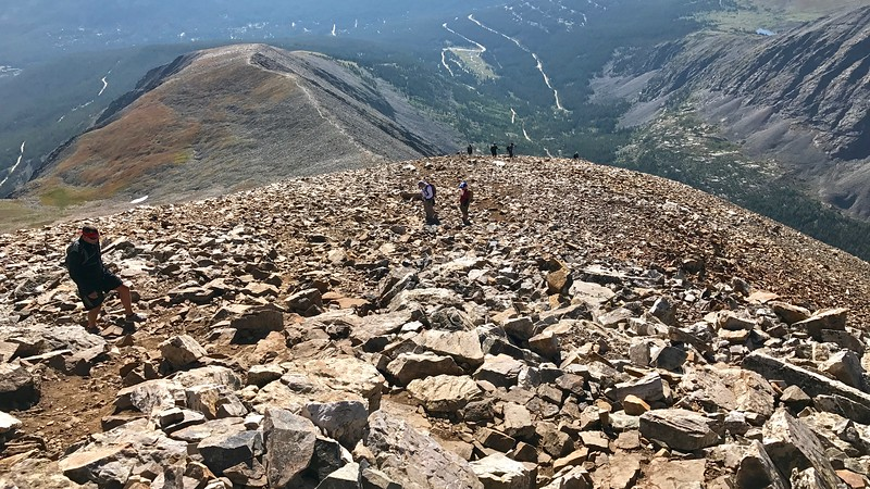 Quandary Peak is very popular and a fine introduction to a 14er.