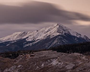 Sunrise in Colorado Mountains