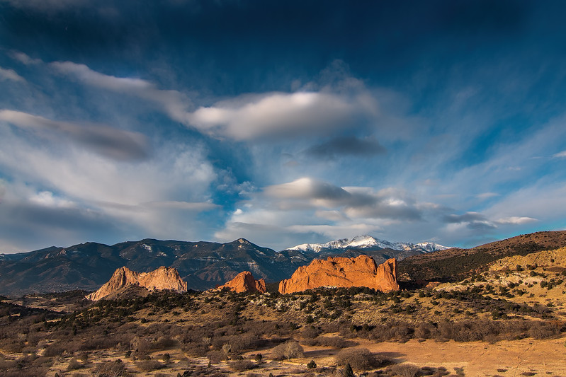 Garden of the Gods and Pikes Peak sunrise