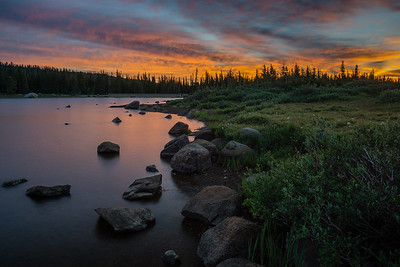 Sunrise on Brainard Lake, Colorado