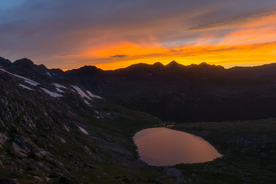 Sunset Over Treasure Vault Lake - Colorado