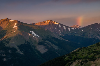 Sunrise Rainbow In Colorado Mountains