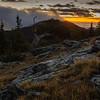 Sunrise High in Colorado Mountains
