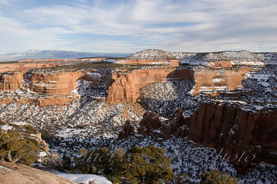 Snow on Colorado National Monument.