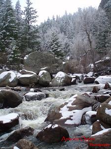 Estes Park in the snow