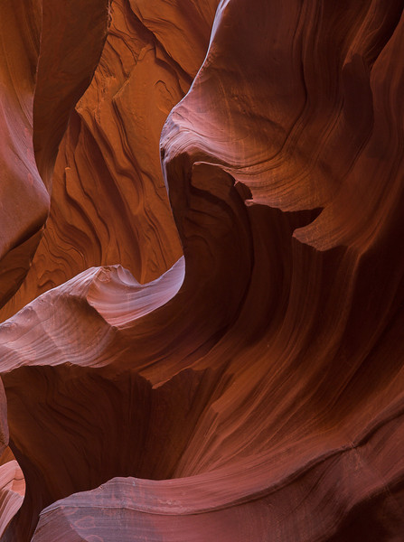Sharp Wall Detail - Lower Antelope Canyon