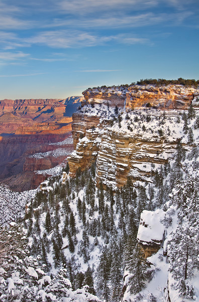 South Rim Grand Canyon After Snow Storm