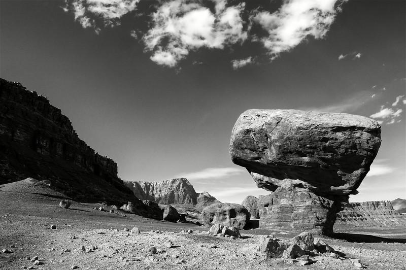 Paysage de désert dans les environs de Marble Canyon. Plateau du Colorado/Arizona/USA