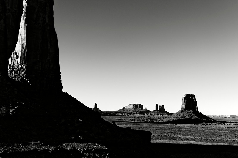 Vue de Monument Valley. Plateau du Colorado/Arizona/USA
