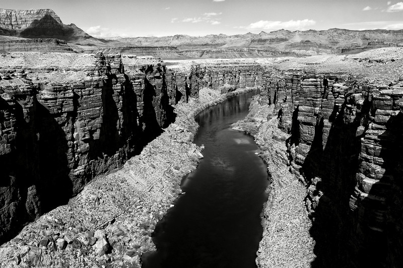 Vue du fleuve Colorado au niveau de Marble Canyon. Plateau du Colorado/Arizona/USA