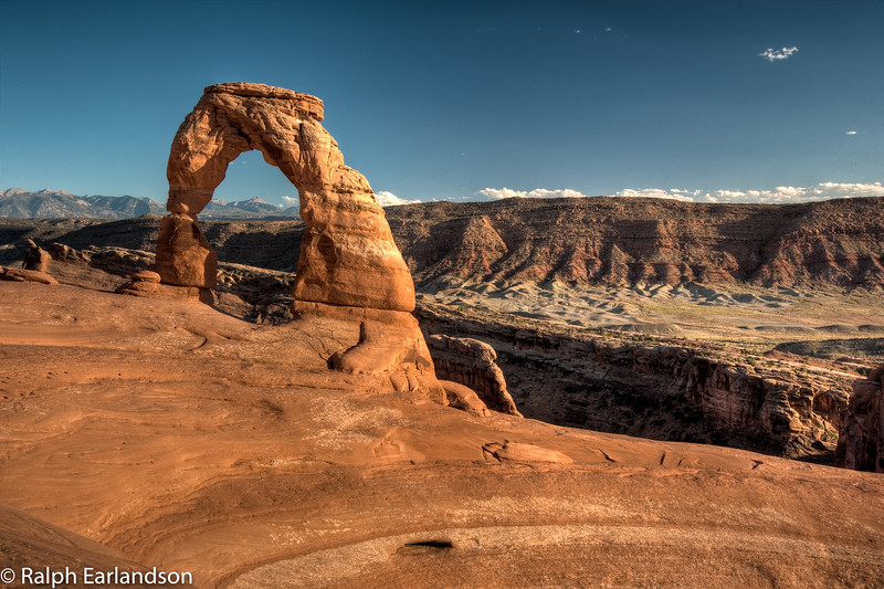 Delicate Arch near  sunset.