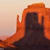The West Mitten casts a shadow on the East Mitten at sunset on only two days each year, near the equinoxes.