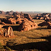 A panorama of Monument Valley from Hunts Mesa.
