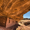 Dwellings at the Moon House on Cedar Mesa in southeastern Utah.