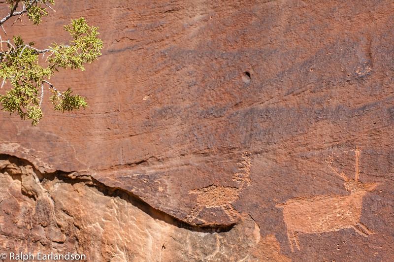Petroglyphs near Canyonlands National Park.