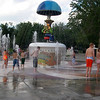 Fountain picture from 2005: Uncle Wilbur is playing caliope music with his octopus tuba