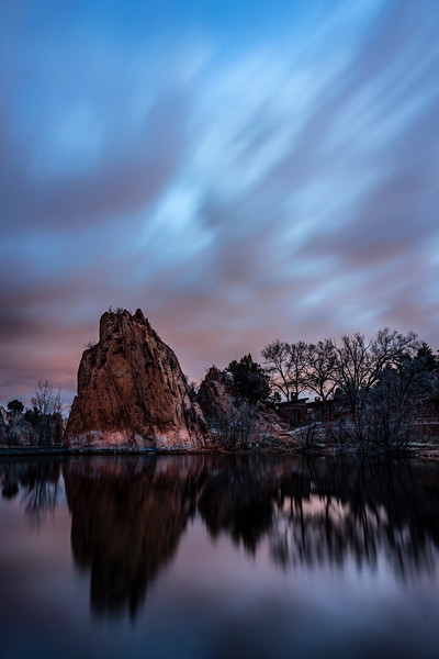 Pre-sunrise in Red Rocks Canyon Open Space, Colorado Springs