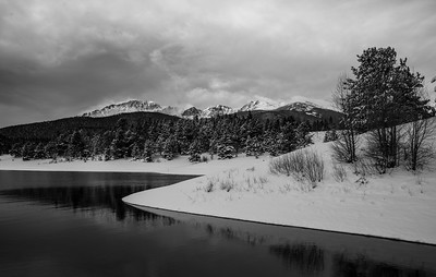 One day away from May, Crystal Reservoir, Pikes Peak.
