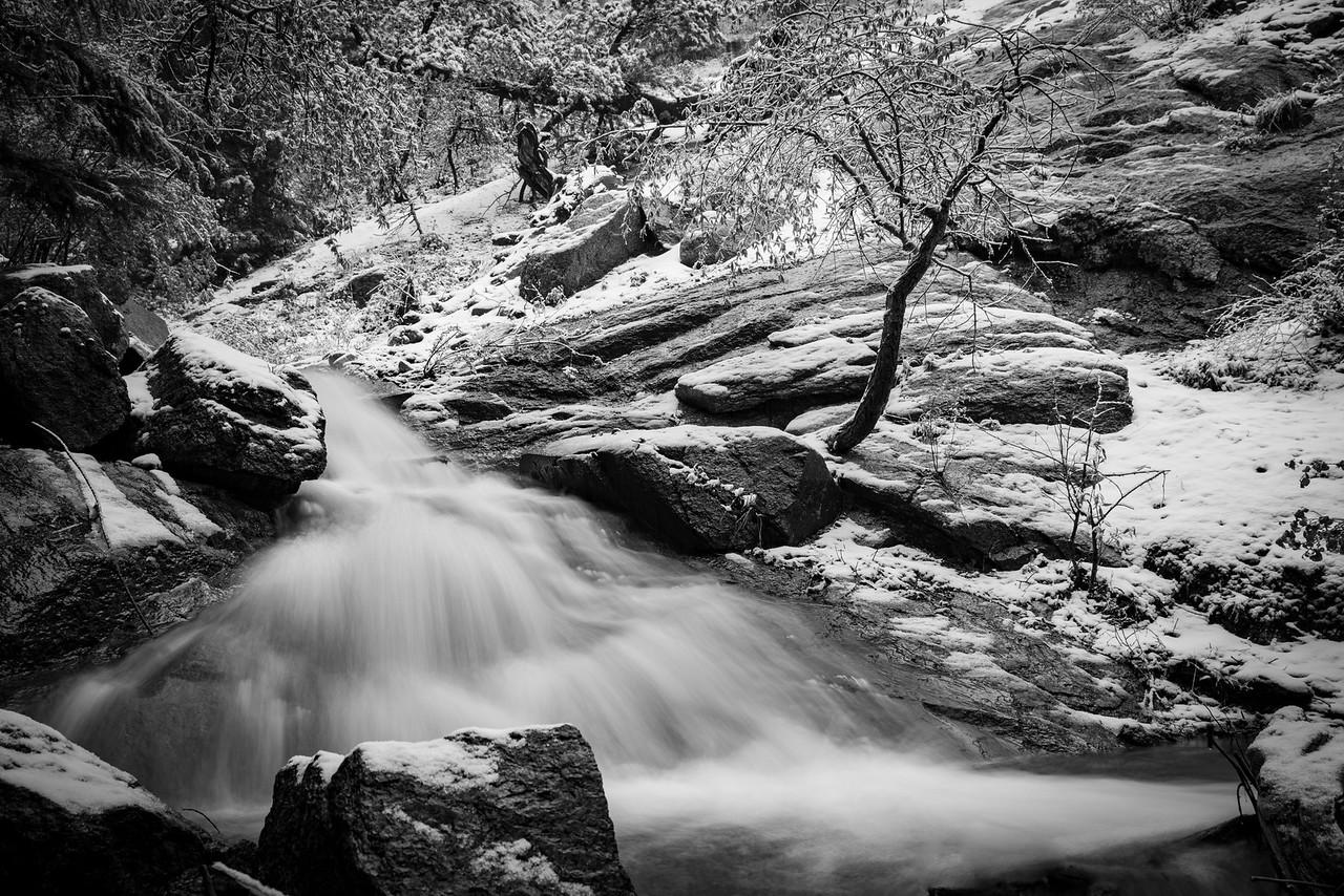 Mid May snowfall, Upper Bear Creek Watershed, Colorado Springs
