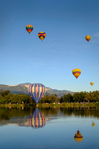 A morning dip at the 2014 Colorado Balloon Classic, Memorial Park, Colorado Springs