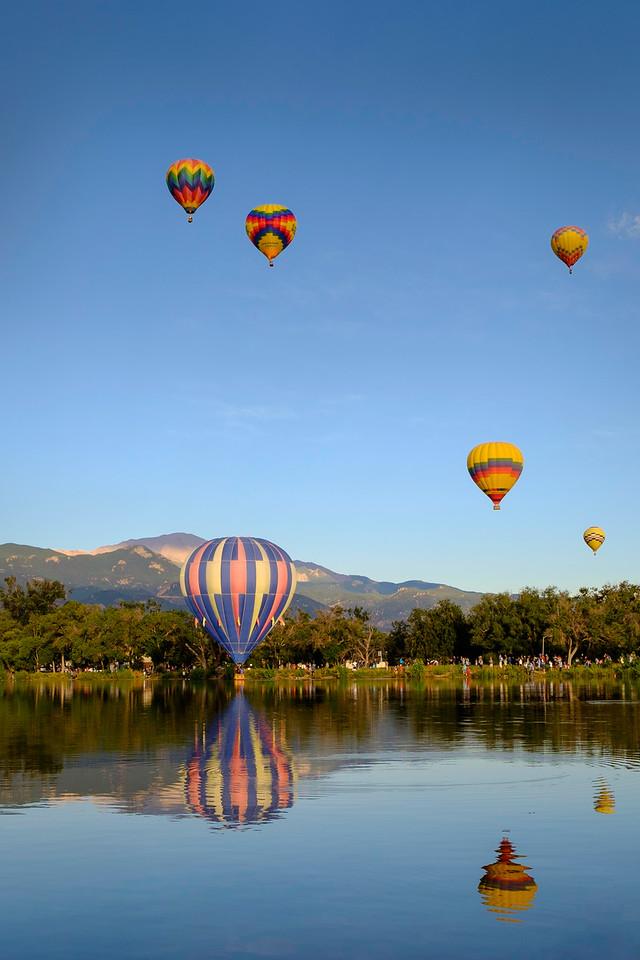 A morning dip at the 2014 Colorado Balloon Classic, Memorial Park, Colorado Springs