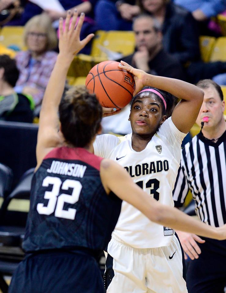 Colorado Stanford NCAA Womens' Basketball  CU Stanford Women207C