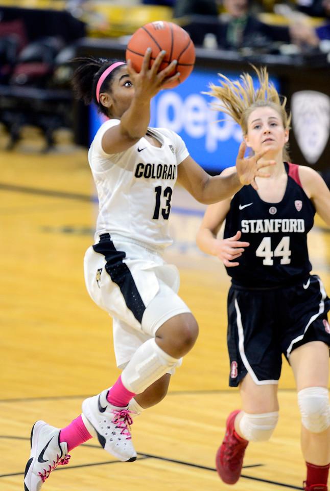 Colorado Stanford NCAA Womens' Basketball  CU Stanford Women213C