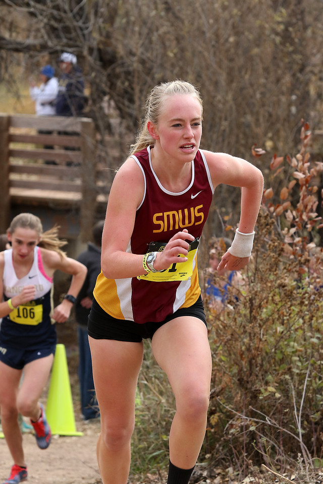 Emma Schaefer of Shining Mountain High School ran to a 8th place finish todaty in the CHSAA Girls 2A State Cross Country Championships.