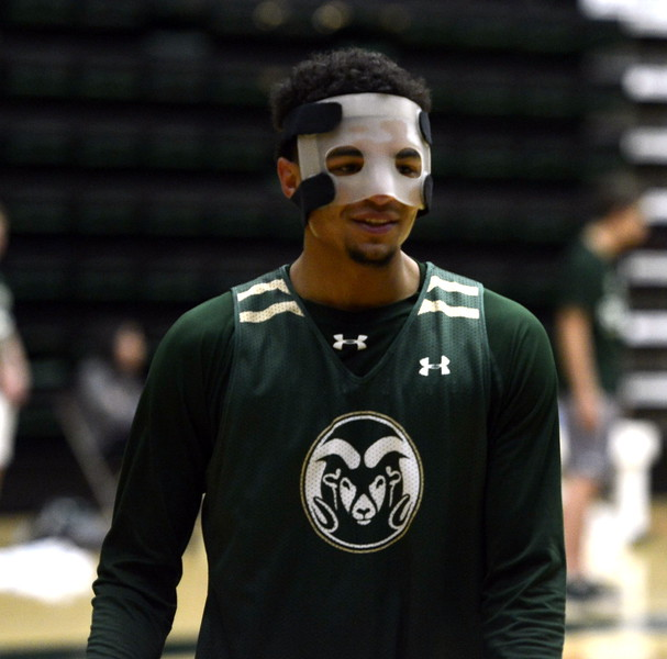 Anthony Bonner during a Colorado State men's basketball practice on Friday at Moby Arena.