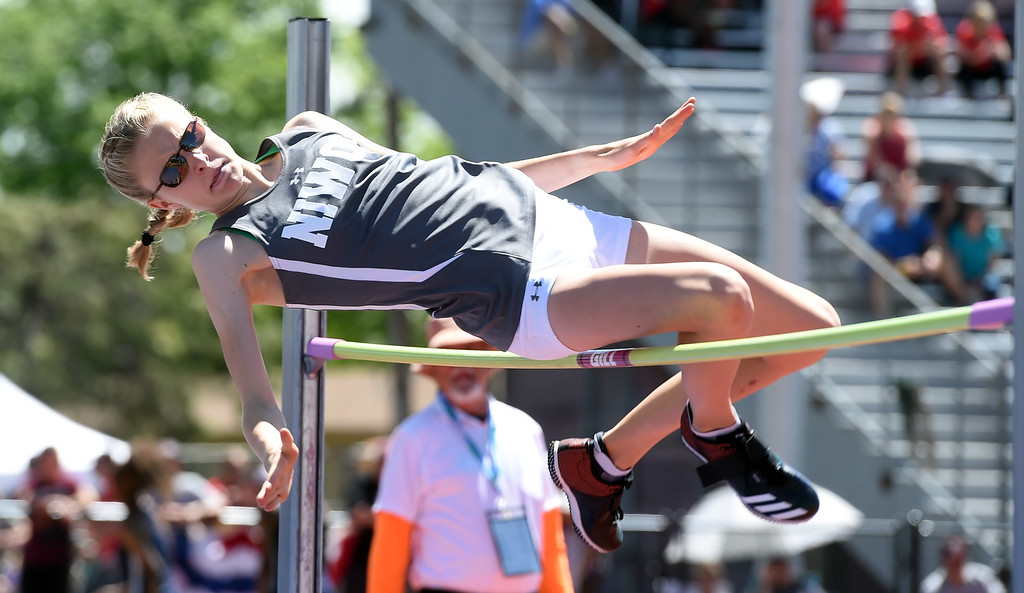 . Taylor James, of Niwot, finished third in the 4A high jump during Colorado State Track and Field in Lakewood on Thursday. For more photos, go to BoCoPreps.com.  Cliff Grassmick / Staff Photographer/ May 17, 2018