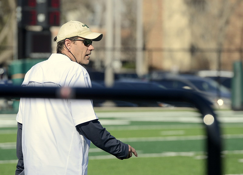 Colorado State football coach Mike Bobo said the spring will be all about teaching, as the Rams have very little settled about their roster and lineup this spring. (Mike Brohard/Reporter-Herald)