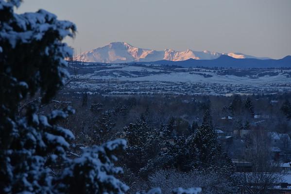 Colorado Sunrise on New Snow