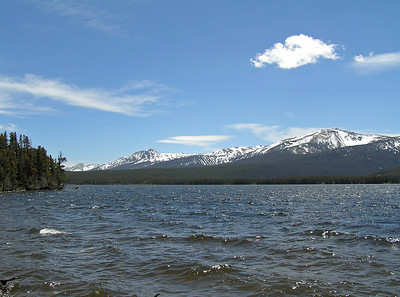 "When I got to Big Creek Lake, it was a tad ""breezy"".  As the whitecaps on the lake indicate."